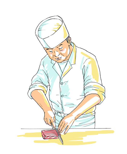 Japanese Chef in Edomae Style