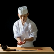 Omakase sushi chef