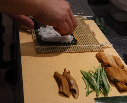 Sushi roll with anago