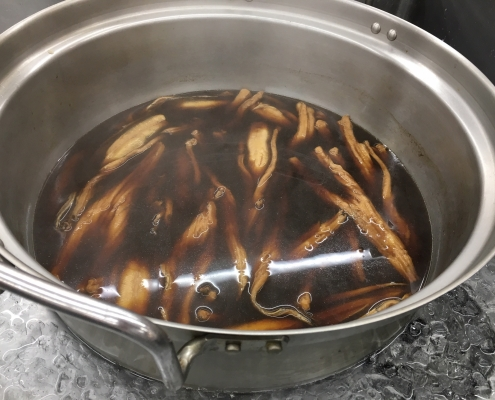 How to simmer anago