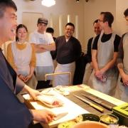 Sushi nigiri class in Tsukiji