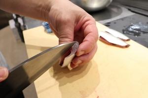 Insert the knife