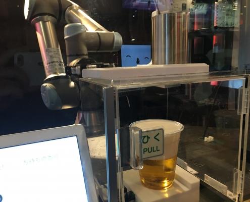 A robot bartender