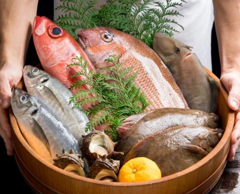 Seafoods in Hangiri