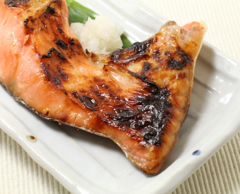 Grilled Salmon Neck