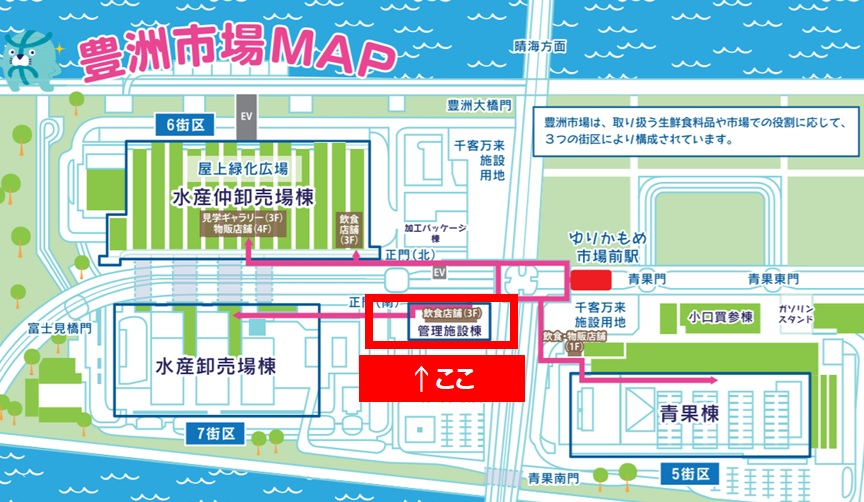 How to go to Toyosu Market by a taxi