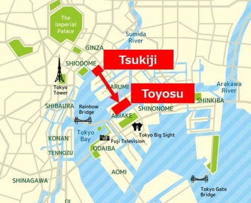 Tsukiji to Toyosu