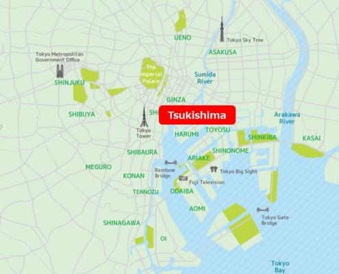 Tsukishima Map