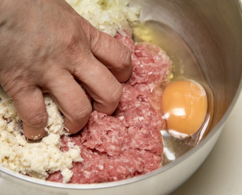 hamburger steak with Panko